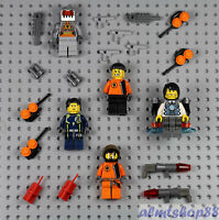 LEGO - 5x Agents Minifigure Lot Weapons Space Villain Ultra Magma 8631 8633 8636