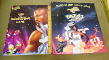 #EE.   1996 LOONEY TUNES SPACE JAM TAZOS SET(80) & BASKETBALL GAME