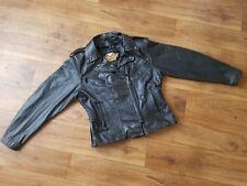 Women's Sz L  Harley Davidson leather jacket - MISSING INTERIOR LINER -