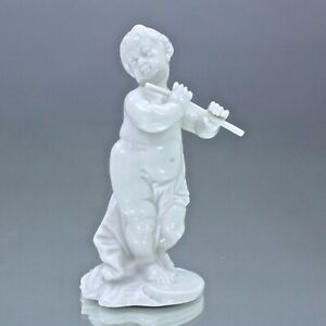 Nymphenburg: Putten als Musikanten, Querflöte, Franz Anton Bustelli, Figur weiss
