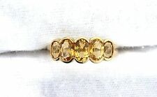 10Kt REAL Yellow Oval Golden Citrine Gem Stone Gemstone Ladies Ring ES199R27OTH