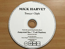 MICK HARVEY (Nick Cave & the Bad Seeds) - Bonnie & Clyde. Aust Promo CD