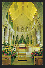 vintage interior St Andrew Church Honolulu Hawaii postcard