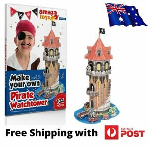 Jigsaw Puzzle Pirate Watchtower - 3D Puzzle Boys Toys - Ideal Boys Gift for 5-10