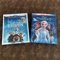 Frozen 1 and 2 Blu-ray + DVD MOVIE BUNDLE DISNEY BRAND NEW Fast shipping