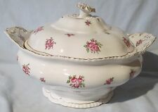 John Maddock and Sons Alsager Roses Soup Tureen Gold Trim