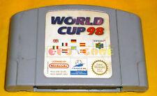 WORLD CUP 98 Nintendo 64 N64 Versione Europea PAL ○○○○○ SOLO CARTUCCIA
