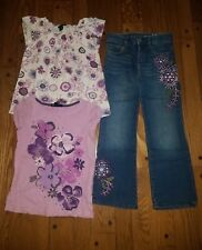 Gap Aviator 4-5t girls tops, 5t embroidered jeans.