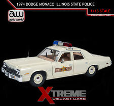 AUTOWORLD AMM1019 1:18 1974 DODGE MONACO ILLINOIS STATE POLICE PATROL CAR