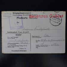 LETTRE PRISONNIER DE GUERRE STALAG IV G -> LILLE KRIEGSGEFANGENENPOST POW