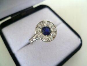 Antik Ring - Saphir, Diamanten/Brillanten 0,90ct, Gold585, 4,56G.