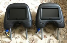 2005 2006 Volvo XC90 Front Seat Headrests with OEM Monitors.