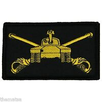 ARMY ARMOR 2 X 3  EMBROIDERED UNIFORM SHIRT BLACK PATCH WITH HOOK LOOP