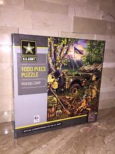 MASTER PIECES 1000 PC JIGSAW PUZZLE SET U.S. ARMY MAKING CAMP & MEN OF HONOR