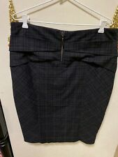 Cue Checked Pencil Skirt - Size 14