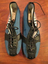 VINTAGE OLD SCHOOL RETRO DETTO SARONNI ROAD TRACK CYCLING SHOES W CLEATS SIZE 37