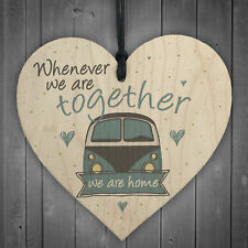 Together Caravan Wooden Family Plaque Shabby Chic Home Decor Sign Frienship Gift