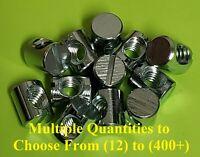 Zinc M6 x 13 Centre Hole Cross Dowel Barrel Nuts Pack of 50