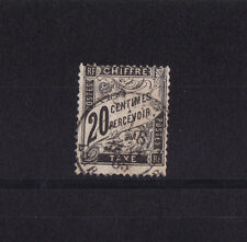 timbre France TAXE   Duval   20c  noir     num: 17   oblitéré