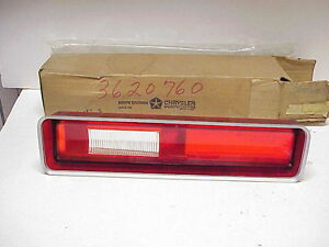 NOS 1972 Plymouth Fury I, II Right Tail Lamp Lens, Mopar