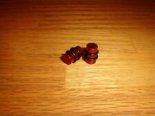Anodized solid Steel Plugs with Orings 1 Pair 00g / 9.2mm Red