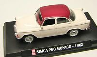 COLLECTION HACHETTE AUTO PLUS  IXO 1/43 SIMCA ARONDE P60 MONACO 1962  /18