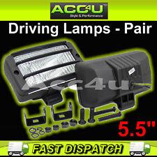 "12v Car Van 4x4 5.5"" Rectangular Driving Halogen Spot Lamps Lights With Grills"