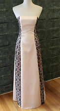 Stunning Morgan & Co Pink Satin/Lace Cocktail Evening Prom Dress Size 8/10 - GC