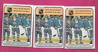 3 X 1981-82 OPC # 395 NORDIQUES PETER STASTNY RB  ROOKIE CARD (INV# A8484)