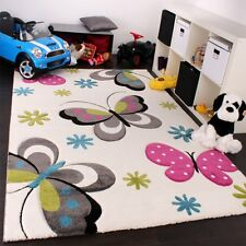 Children Rug Carpet Kids Butterfly Pattern Nursery Rugs Boys Girls Bedroom Mats 120x170cm