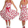 CHERRY VINTAGE SWING DRESS by HEARTS & ROSES LONDON ALTERNATIVE RETRO 50's