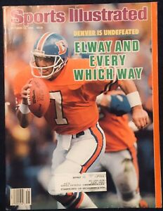 10.13.1986 JOHN ELWAY Sports Illustrated Denver Broncos Undefeated