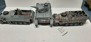 Airfix Combat WW2 1/32 Panzer & Hanomag Halftracks tanks custom painted