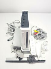 Nintendo Wii Console White With Cables & Wii Controller Nunchuck Basic Setup