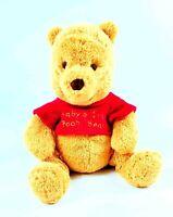 Disney Baby Baby's 1st Winnie the Pooh Bear Rattle Chime Plush Toy Sewn Eyes