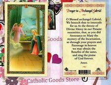 St. Gabriel the Archangel Prayer to Saint Gabriel - Laminated Holy Card