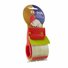 """2"""" Plastic Mini Hand Tape Dispenser With 800"""" of 2"""" Crystal Clear Tape Included"""