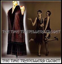BNWT KATE MOSS TOPSHOP BEAD SHEER BLACK CREAM ROARING 20s VTG FLAPPER DRESS UK 8
