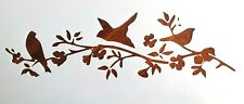Birds and Flowers Stencil / Template Reusable 10 mil Mylar