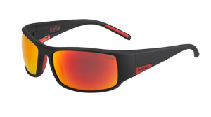 BOLLE KING SUNGLASSES 12421 RED MATTE FIRE CAT 3