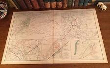 Antique Civil War Map MINE RUN Orange Court House HARPER'S FERRY Virginia VA