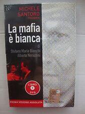 DVD + LIBRO   LA MAFIA E' BIANCA      di   MICHELE SANTORO   NEW