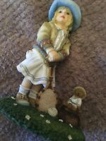 ANYONE FOR TENNIS FIGURINE by CHRISTINE HAWORTH - THE LEONARDO COLLECTION