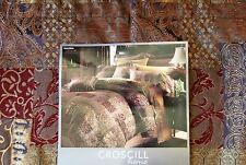 BRAND NEW CROSCILL RED GALLERIA QUEEN SIZE 4 PIECE COMFORTER SET BLOCK DESIGN