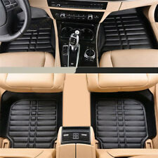 5Pcs/Set Car Floor Mats All Weather Front & Rear Black PU Leather All Weather