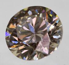 0.20 Carat Fancy Intense Brown SI2 Round Brilliant Natural Loose Diamond 3.73mm