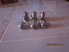 lot of 6 vintage Godinger Silver Art Mini Tea/Coffee Pots