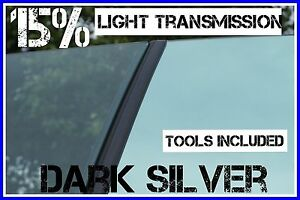 DARK SILVER MIRROR 85% DARKER CAR WINDOW TINTING FILM 6M X 75CM TINT + FREE KIT
