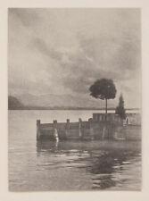 Original um 1930 Am Bodensee, Bromölumdruck von Hans Weihs, signiert