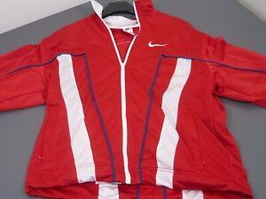 VINTAGE NIKE SPORTSWEAR Basketball TRAININGSANZUG rot/weiß mit Logo, Hose blau